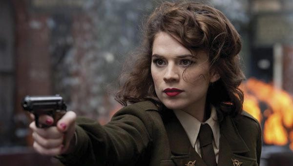 Hayley Atwell suits up as Agent Carter.