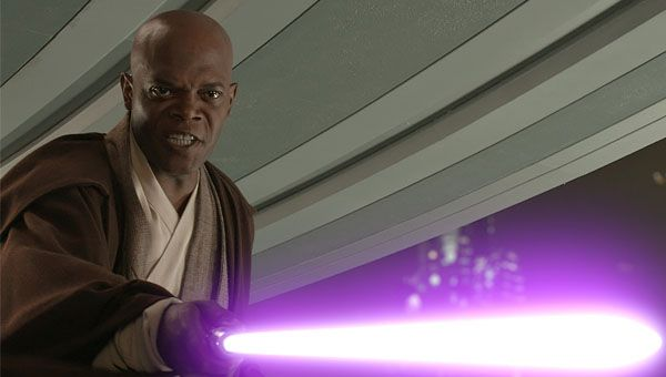 Samuel L Jackson Purple Lightsaber