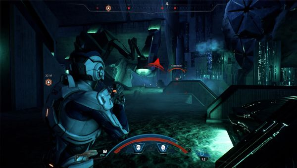Good old Mass Effect combat - Credit: Bioware