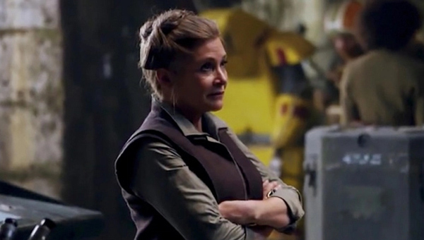 Carrie Fisher as General Leia - Credit: Lucasfilm