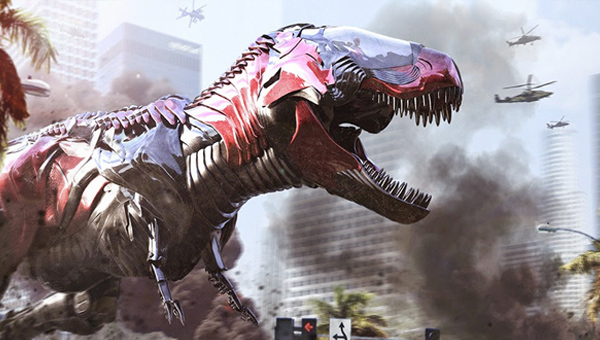 The Red Zord roars into action - Credit: Lionsgate