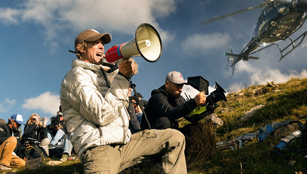 Transformers director Michael Bay on set - Credit: Paramount Pictures
