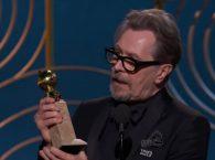 Gary Oldman nabs a Golden Globe for Best Actor, Drama (Credit: Golden Globes)