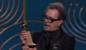 Gary Oldman nabs a Golden Globe for Best Actor, Drama (Credit: Golden Globes)