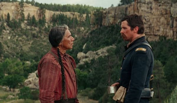 Captain Blocker is tasked with escorting Chief Yellow Hawk (Credit: Entertainment Studios)
