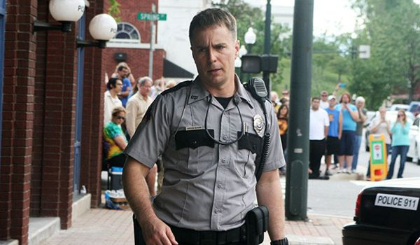 Sam Rockwell as Officer Dixon in Three Billboards (Credit: Blueprint Pictures)