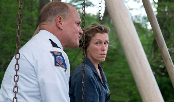 Woody harrelson and Frances McDormand in Three Billboards (Credit: Blueprint Pictures)
