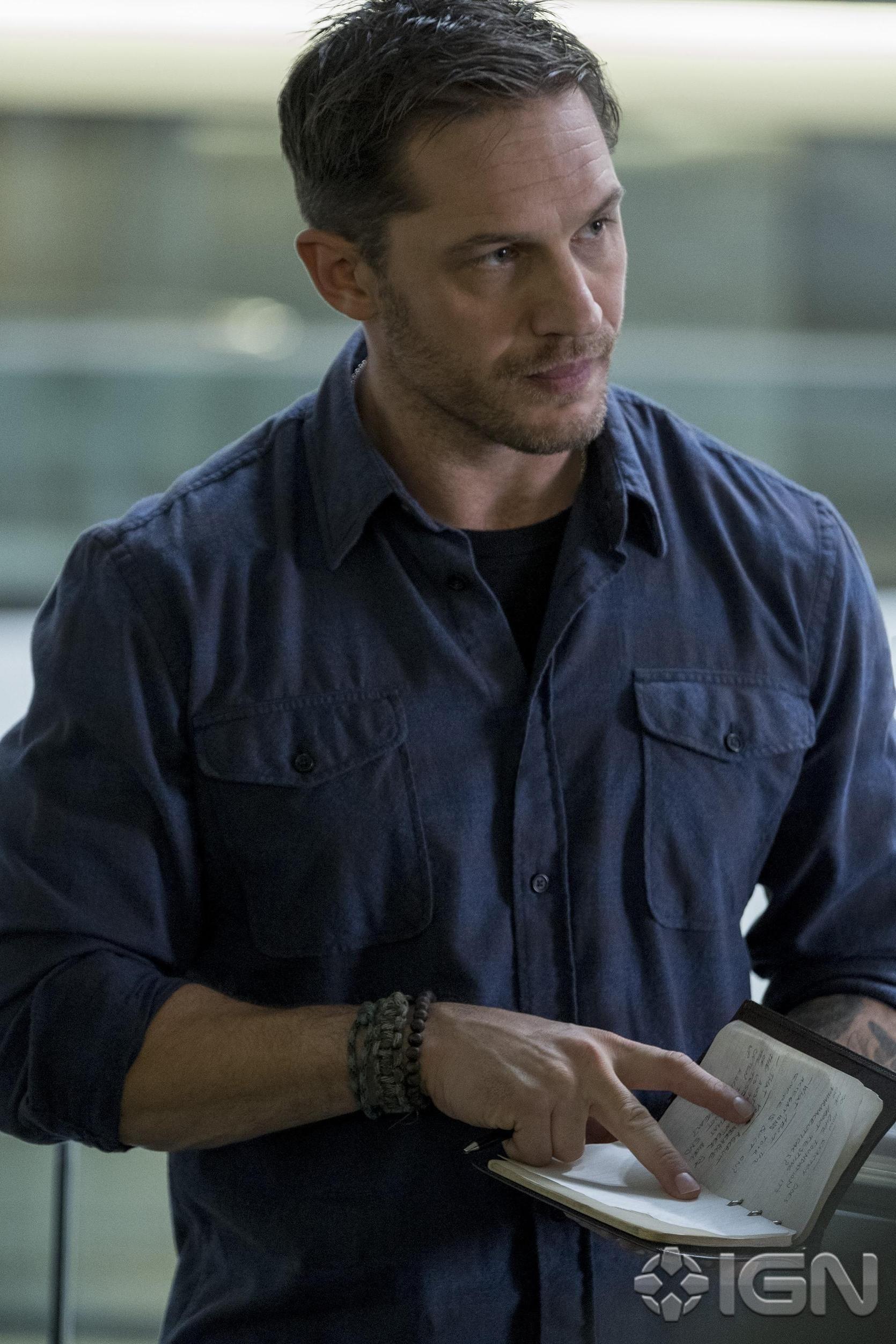 Tom Hardy stars as Eddie Brock in the upcoming Venom film (Credit: Sony/IGN)